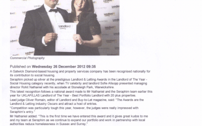 Gatwick Diamond Landlord Shines in National Awards