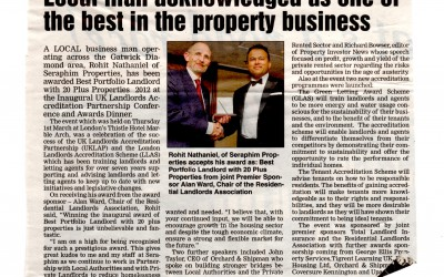 Local Man Acknowledged as one of the Best in the Property Business